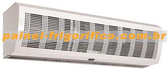 Cortina de ar para câmara frigorifica, versão industrial